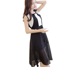 Yu Mu Slim sleeveless women's fashion wild trend slim dress