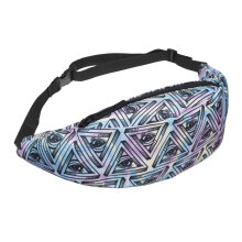 COZIME Sports Waist Belt Bag Jogging Cycling Pouch Running Pack 3D Floral Print Multicolor