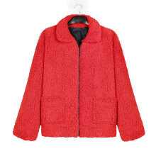 Women's Casual Warm Faux Shearling Coat Jacket Autumn Winter Long Sleeve Lapel 3XL
