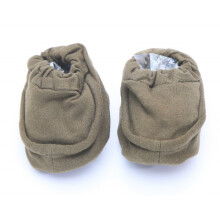 Cribcot Booties Plain - Army Green Size S