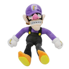 Jantens 1pc 28cm new anime super Mario plush toy padded soft cartoon purple Waluigi doll children love toys Photo Color