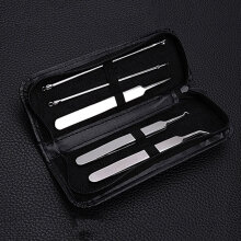 [COZIME] 5PCS/set Blackhead Blemish Acne Pimple Extractor Remover Tool Face Skin Care Black1