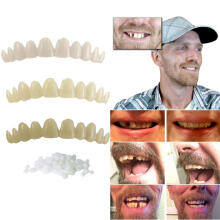 Farfi Natural Temporary Replace Missing Bad Teeth Cover Veneers Denture Oral Care as the pictures
