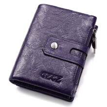 Zanzea Men Women Vintage Genuine Leather Wallet Card Holder