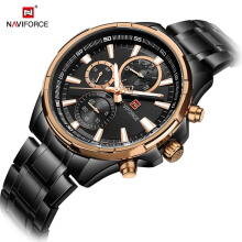 NAVIFORCE Men Watch Date Week Sport Mens Watches Top Brand Luxury Military Business Stainless Steel Quartz Male Watch