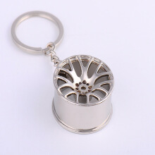 JMS - 1 Pcs Key Chain Ring / Gantungan Kunci Model Velg Mobil - Silver