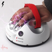 Famirosa Generic Creative Micro Electric Shock Lie Detector Truth Game Polygraph Toy  - Silver