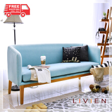 LIVIEN Furniture - Kursi / Sofa / Bangku / Helen Sofa (2 Seater) Light Blue