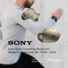 Sony WF 1000X / WF1000X Noise Cancelling Bluetooth Headphone Gold