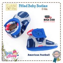 Cuddle Me Sepatu Prewalker Bayi Fitted Booties American Football