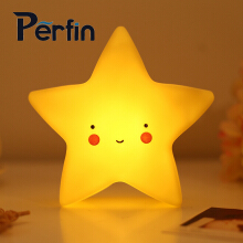 Perfin New fashion LED night light star baby romantic bedroom colorful lights