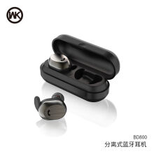Original WK Design Wireless Headset Hummingbird BD800 TWS - Black Black