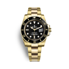 Rolex Submariner Date Watch: 18 ct yellow gold - M116618LN-0001 Gold