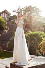 Allgood Fashion Europe&American Spring Tuxedo Dresses Off Shouldes High Waist Slip with Belt Long Wedding Dress