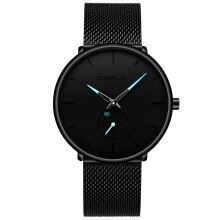 PEKY fashion creative grid design waterproof watch Quartz Watch Stainless Steel Male Business Watches