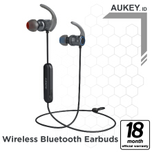 Aukey Headset Bluetooth Magnetic Earbuds, APTX - 500307 Black