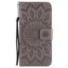 Sannic Samsung Galaxy Note5 Phone Case Sun Flower PU Leather Casing Emboss Flip PU Leather Stand Cover Cases
