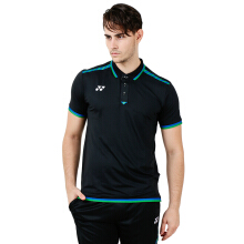 YONEX Jan O. Jorgensen Polo Shirt Badminton Tournament - Black