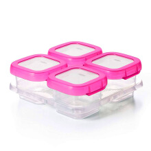 OXO TOT Baby Blocks Freezer Squeeze Storage Container Set 60 ml Pink
