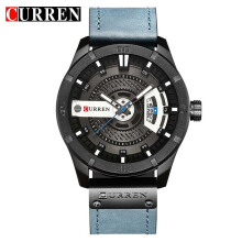CURREN Original Watch 8301 Men's Sports Waterproof Leather Band Male Quartz Watches