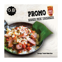 GB Bistro - PaketGB Bistro - Paket GB Sausages Tomato Rice   + Ice TeaLunch GB Crispy Basil Chicken  + Ice Tea
