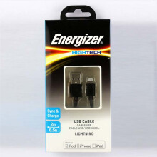 Energizer Lightning Cable 2M Black Black