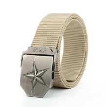 AWMEINIU Original wild alloy buckle long canvas belt