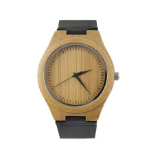 COZIME Vintage wooden dial watch quartz watches Men Women Couple Watch Black Pointer Black