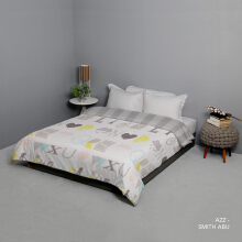 KING RABBIT Bed Cover Single A2Z-Biru  / 140x230 cm