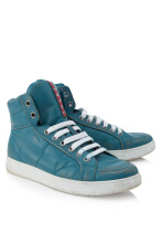 Pre-Owned Prada Vitello Vintage High Top Sneakers