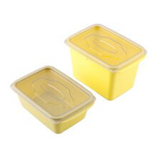 VICTORYHOME Food Box 1000ml & 500ml Set of 2 - Yellow
