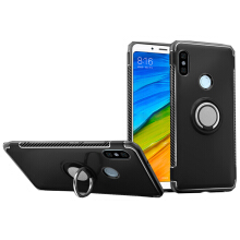 RockWolf Xiaomi Redmi note 5 case Silicone Metal Ring Shell Magnetic Suspension