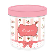 TECHNOPLAST Bonjour Canister 850 ml Pink