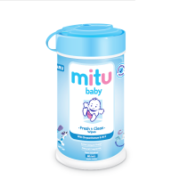 MITU Baby Wipes Bottle 60s - Blue