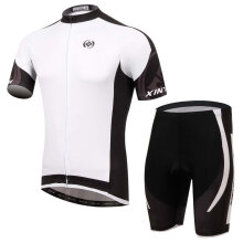 Cycling Short-sleeved Suit Bicycle Summer Moisture Wicking Pants white XXXL