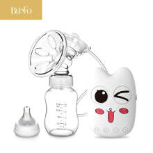 BLINGO TU04 Baby breast pump automatic massage milking machine strong nipple breast pump USB electric breast pump with bottle White