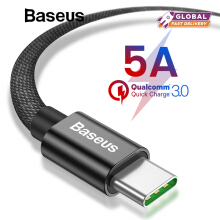Baseus 5A Super Quick Charge USB Type C Cable for Huawei Mate 20 pro P20 pro, 2A Fast Charging for Samsung Note 9 S9 Plus Xiaomi