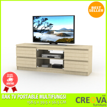 RAK TV PORTABLE MULTIFUNGSI PLUS LACI