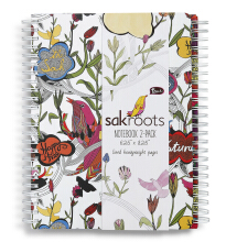 Sakroots Set Notebook  White Peace