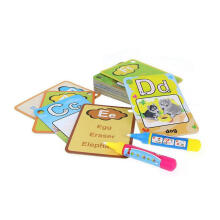 Farfi 26 Letters Flash Card Water Painting Graffit Board Kids Early Education Toys as the pictures