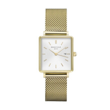 ROSEFIELD The Boxy White Sunray Mesh Gold [QWSG-Q03]