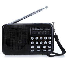 Shengmeiid L - 065 Portable AM / FM Radio Music Speaker Support TF SD Card USB AUX Audio Input