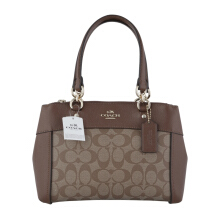 COACH F26139 Mini Brooke Carryall Khaki/Saddle [COA01888B] Brown