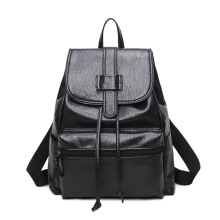SiYing Simple shoulder bag large-capacity school bag Black