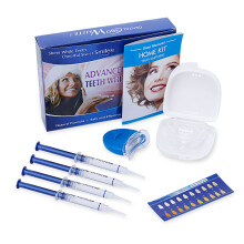 Teeth Whitening Kit with 4 Gel 2 Tray 1 Light for Oral Hygiene Dental Care Bleaching  - Blue