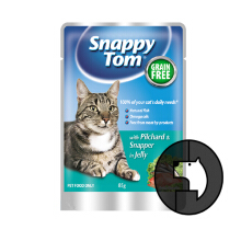 SNAPPY TOM 85 gr cat with pilchard and snapper in jelly