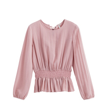 INMAN 1881011078 Blouse Summer Long Sleeve Women Solid Color Blouse