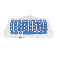 Mini 2.4G Wireless Keyboard Adapter Chatpad Keypad for PS4 Controller White White