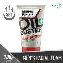 MEN'S BIORE Facial Foam Oil Buster Acne Action 100g