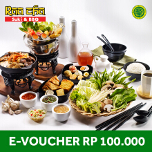 Raa Cha Suki & BBQ - Voucher Value Rp 100.000